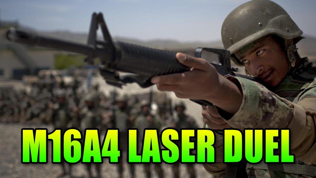 1 vs 1 Sneaky M16A4 Laser Duel | Battlefield 4 Assault ... M16a4 Bf3