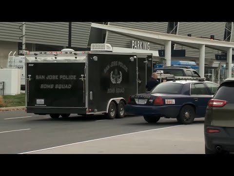 Raw Video: Suspicious Package Investigation At SJC Airport