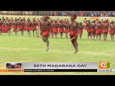 Maasai Moran traditional performance during Madaraka Day