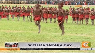 Maasai Moran traditional performance during Madaraka Day