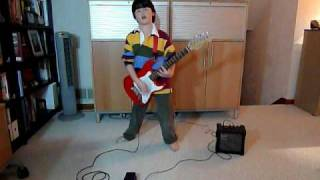 rhcp dani california guitar cover by david 9 yrs old