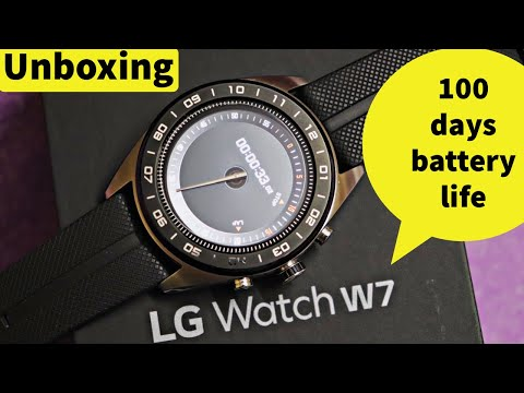 LG WATCH W7 Unboxing and review-Smartwatch android wear & 100 days battery life