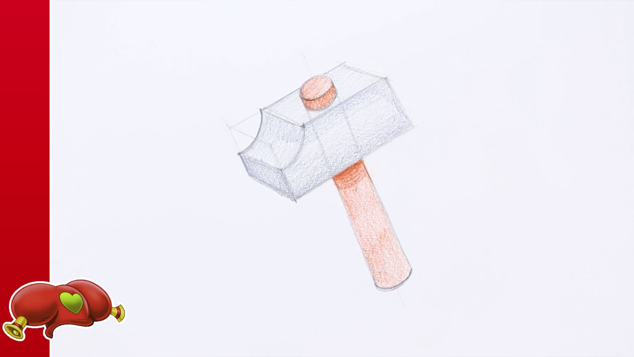 Tuto dessin le marteau de bric le bricoleur dessine - Dessin de marteau ...