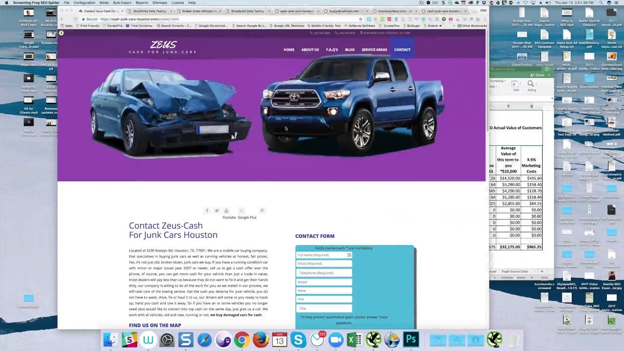 Zeus Cash For Junk Cars in Houston - Site Audit - Digitaleer - YouTube