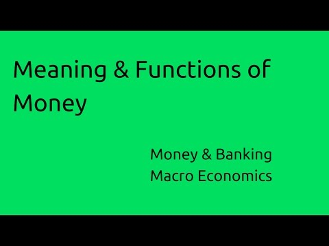 Meaning & Functions of Money | Budget | Money | Banking | CA CPT | CS & CMA Foundation | Class 11