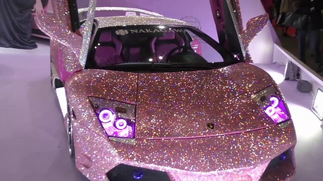Lamborghini Murcielago Finished With Pink Swarovski Crystals ピンク スワロフスキー  ランボルギーニ・ムルシエラゴ