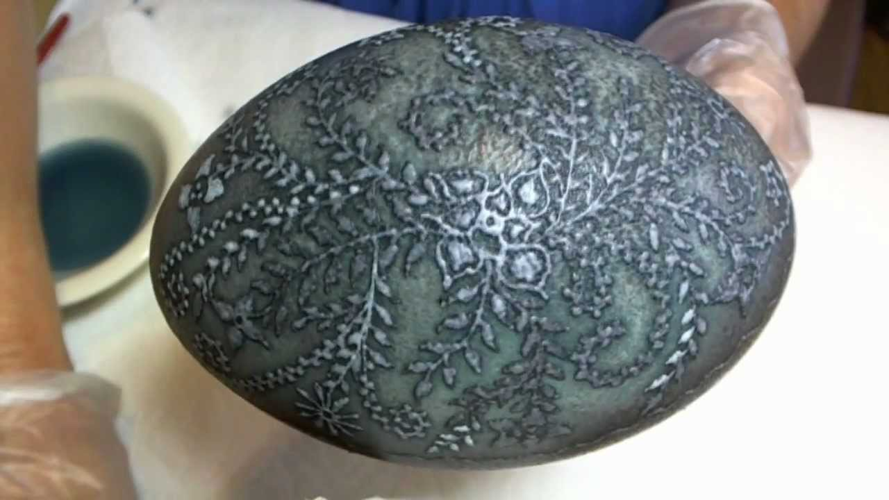 ... to create Pysanky or Batik style Etched Etching Eggshell - YouTube