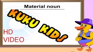 Material Noun-Learn With Examples