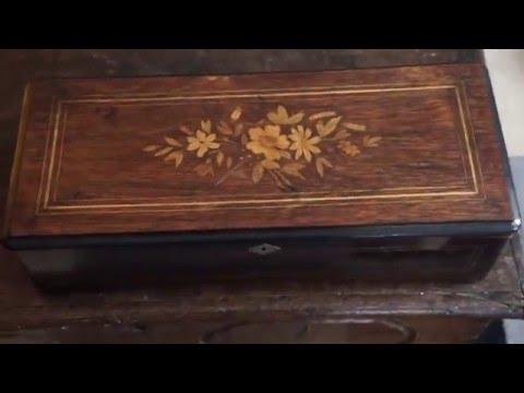 Antique Furniture Swiss Music Box Circa 1880.