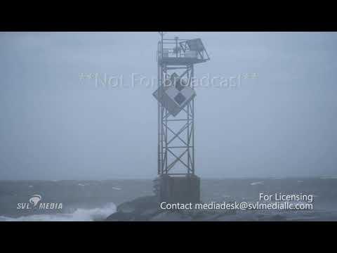 Ocean City, Maryland - Post Tropical Cyclone Zeta/Wind/Waves - October 29th, 2020