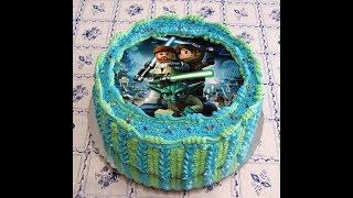 Украшаем торт кремом БЗК