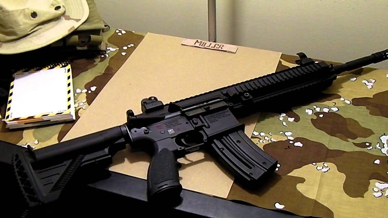 HK 416 D  22LR disassembly (part 1) by waimanjr