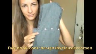 DIY Messenger Bag from Jeans! EASY Tutorial
