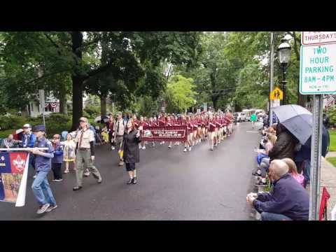 Tohickon middle school playing in the Doylestown Memorial Day parade