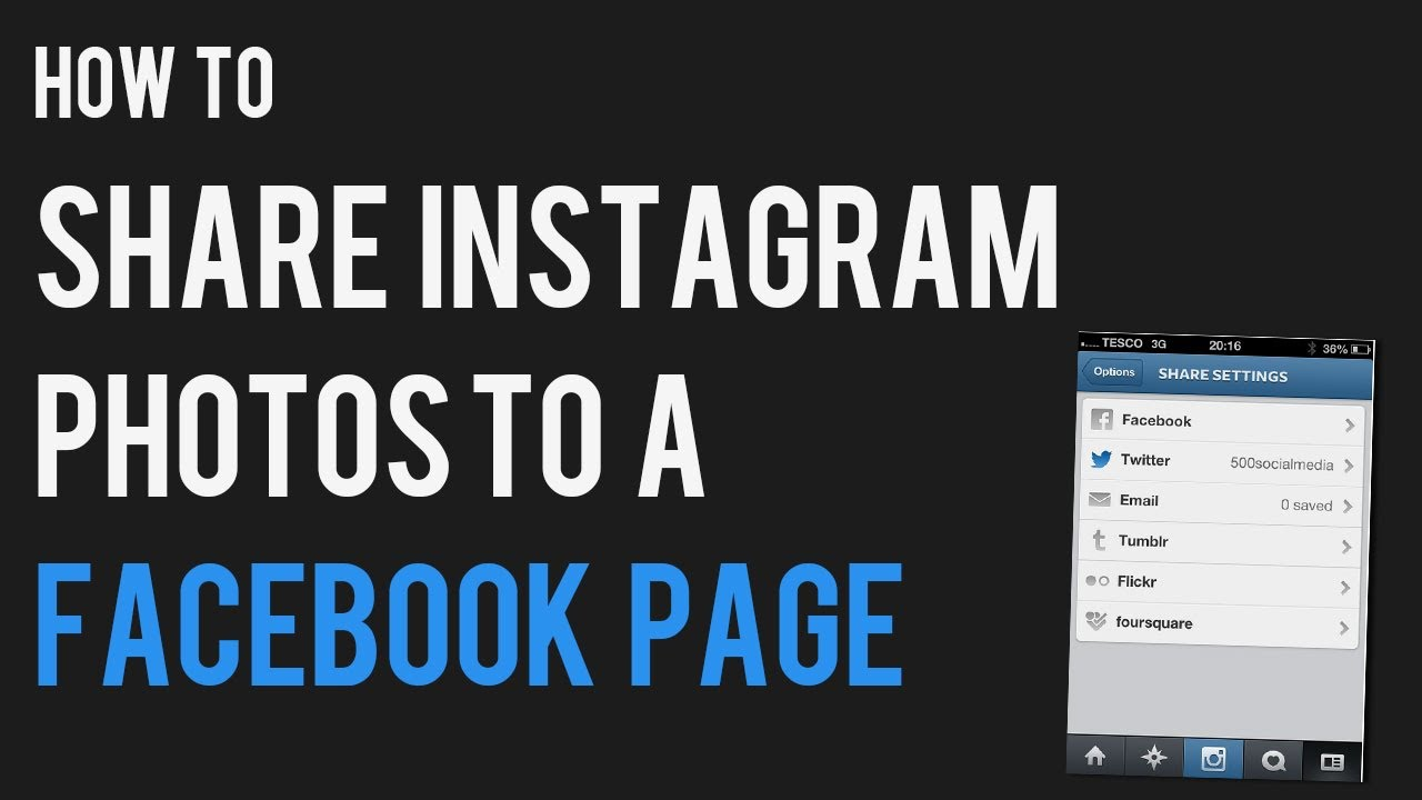 Share instagram post to facebook page