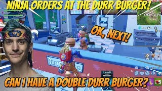NINJA ORDERS AT THE DURR BURGER! (Fortnite Stream Highlights)