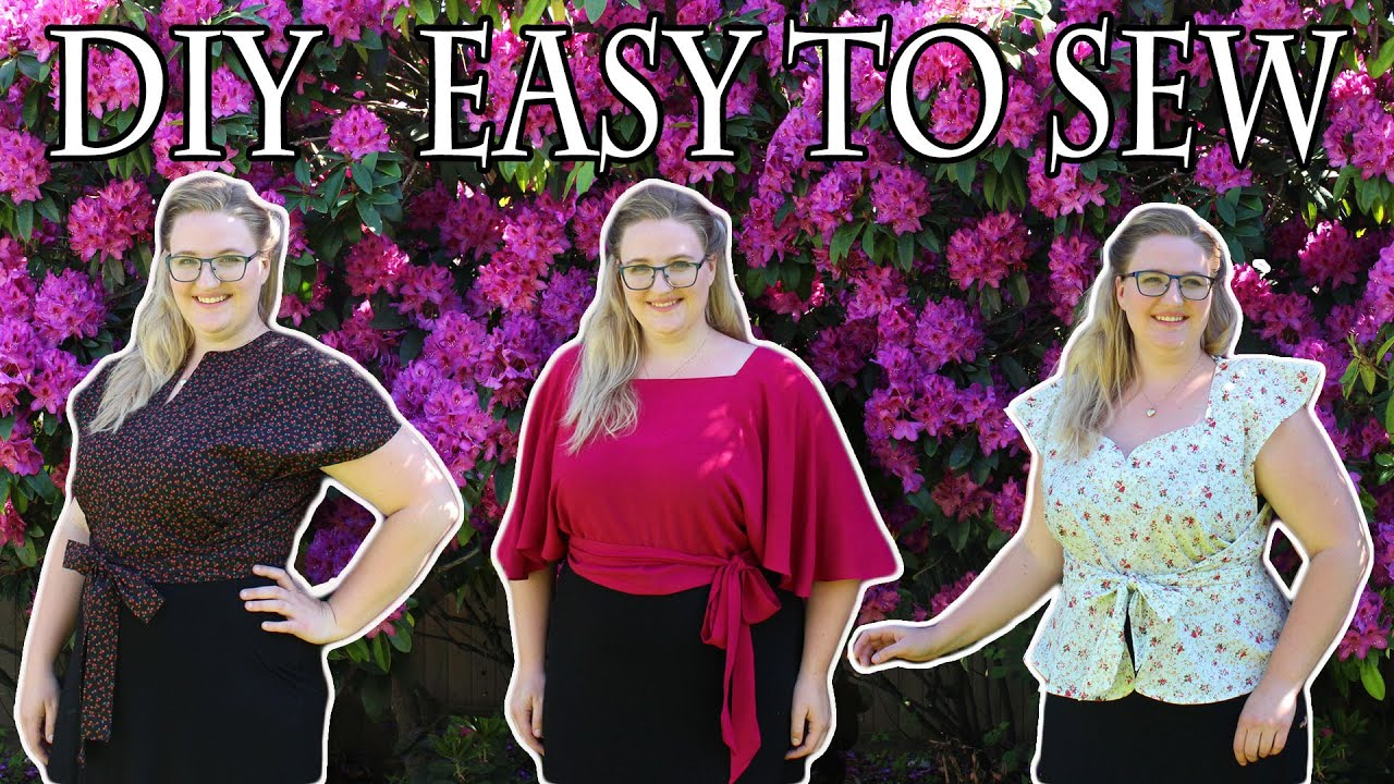 DIY Beginner Friendly Retro Summer Fashion Tutorial! || Wrap Top from the 30s 40s & 50s // Plus Size