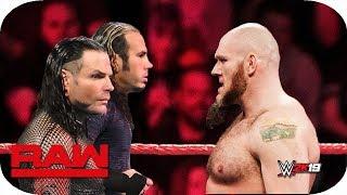 FULL MATCH - Lars Sullivan vs. Jeff Hardy & Matt Hardy : Raw, April 18, 2019