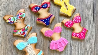 How to decorate SWIMSUIT COOKIES.