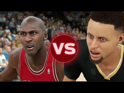 96 Chicago Bulls VS Present Golden State Warriors | NBA 2K17 Challenge