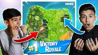 WE GOT INTO THE SAME SOLO GAME! Fortnite 1v1 Against 10 Year Old Little Brother!