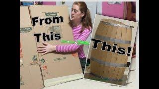 как сделать бочку из картона