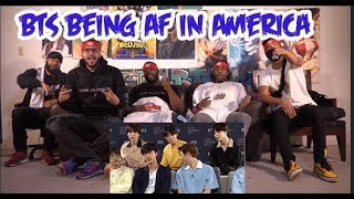 Bts being extra af in America Reaction/Review