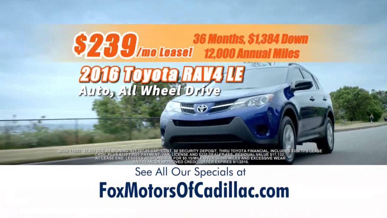 Fox Cadillac Great Summer Selldown Toyota