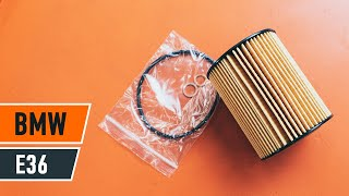 How to change oil filter and engine oil on BMW E36 [TUTORIAL AUTODOC]