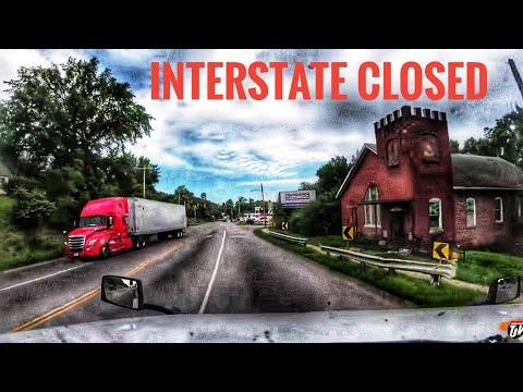 My Trucking Life   INTERSTATE CLOSED   #1730