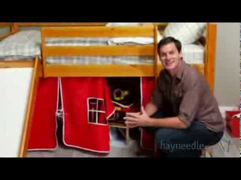 Alexander Tent Twin Loft Bed with Slide   Product Review Video