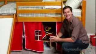 Alexander Tent Twin Loft Bed with Slide - Product Review Video