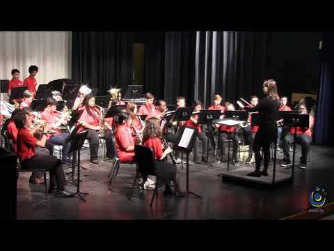 West Millbrook Middle School Concert Band performs Lexington March on 3/19/2019