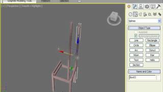 Приделываем спинку к стулу в 3DS Max (21/32)
