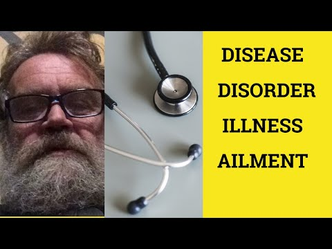 🔵 Disease Disorder Illness Ailment - Difference Meaning Examples - British English Pronunciation