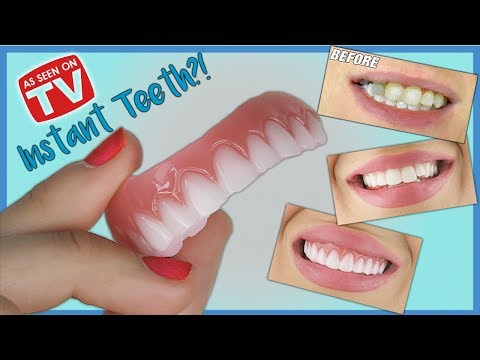 *New* INSTANT SMILE Press On Veneers Demo & Review | How do they look?
