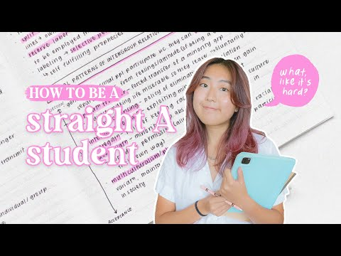 HOW TO BE A STRAIGHT A STUDENT // study habits, grade hacks, + more