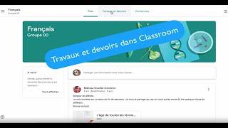 Élèves (3/4): Travaux et devoirs dans Classroom