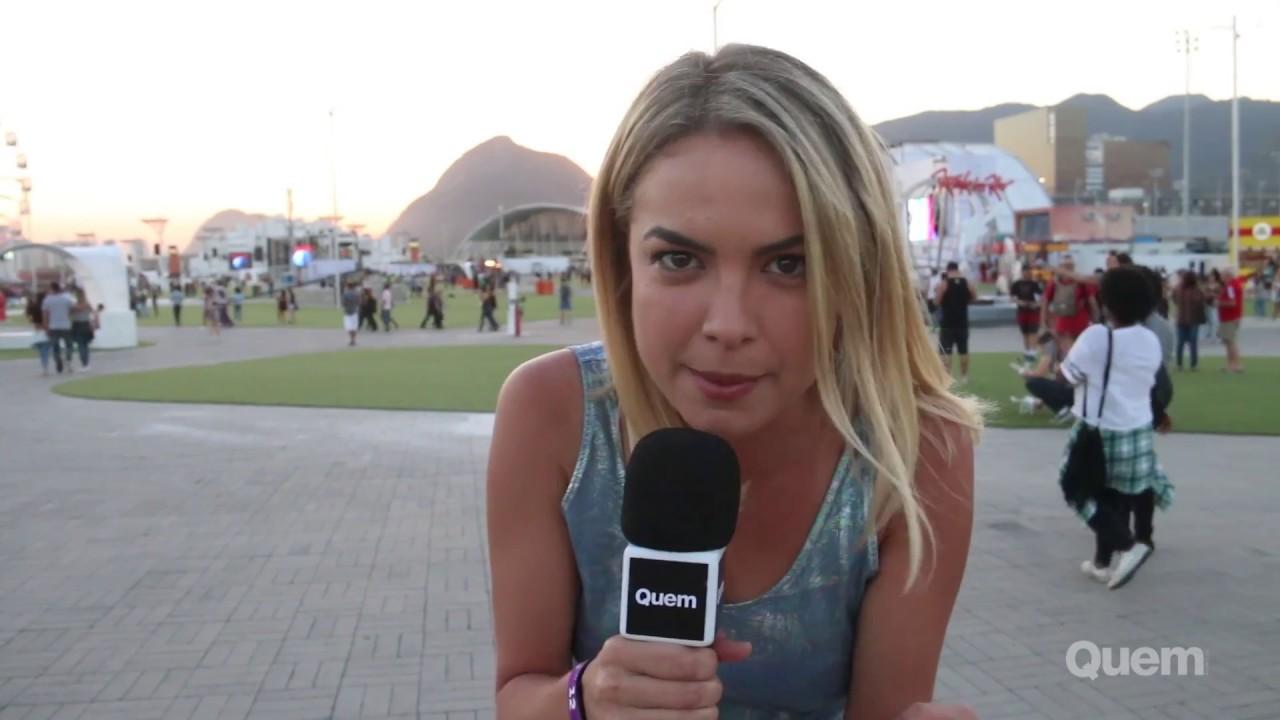 Lua Blanco e Iza visitam a Cidade do Rock antes do Rock in Rio