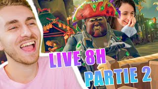 LIVE 8 HEURES PARTIE 2 : SEA OF THIEVES ! ❤ ( Feat @Mary - Frozencrystal )