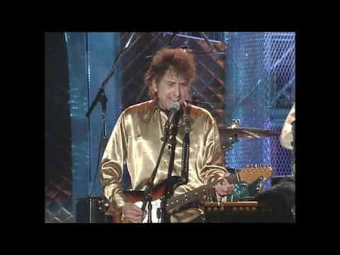 """Bob Dylan performs """"All Along the Watchtower"""" at the Concert for the Rock & Roll Hall of Fame"""