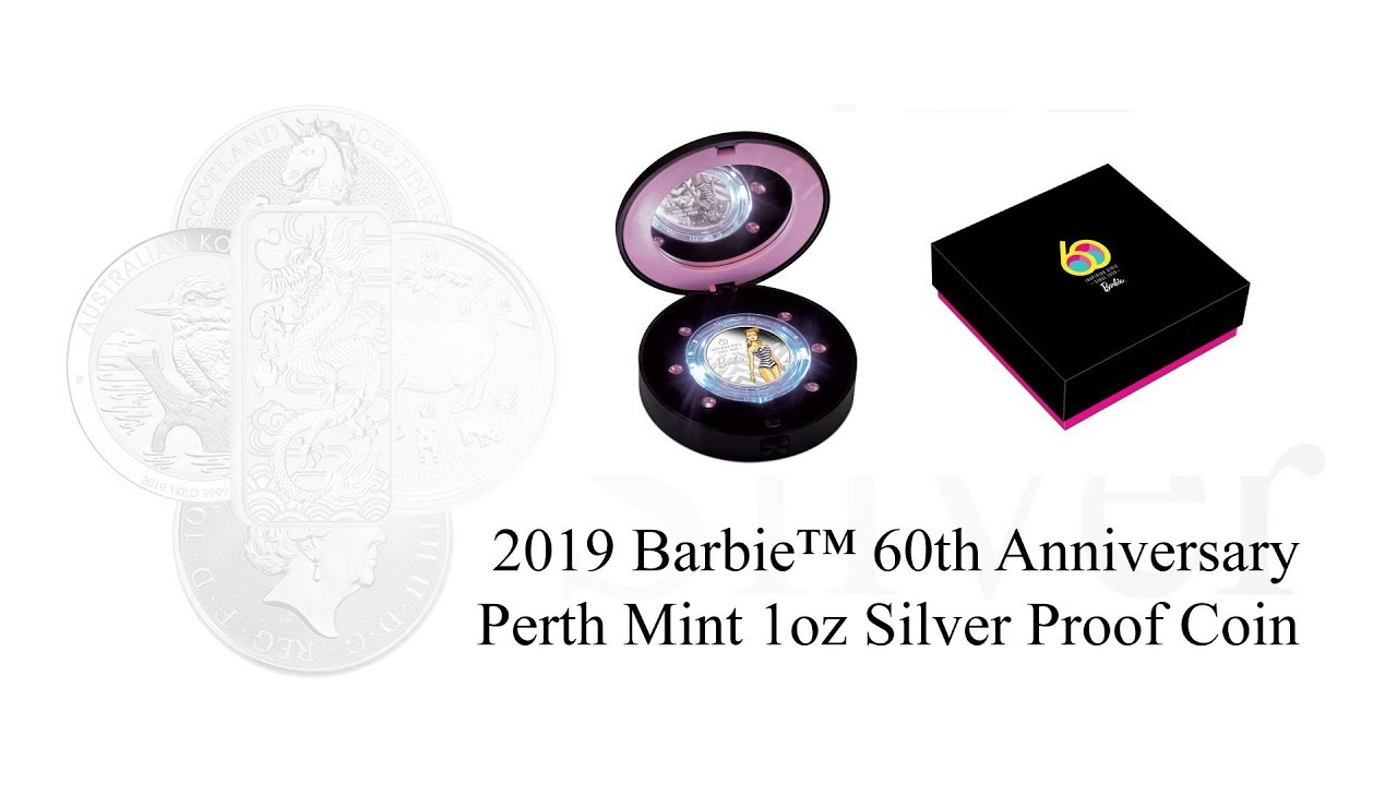 2019 Barbie™ 60th Anniversary 1oz Silver Proof Coin