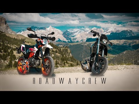 SUPERMOTO Race Dolomites | BMW G650 X vs KTM SMC R 690 | RAW | Wheelie