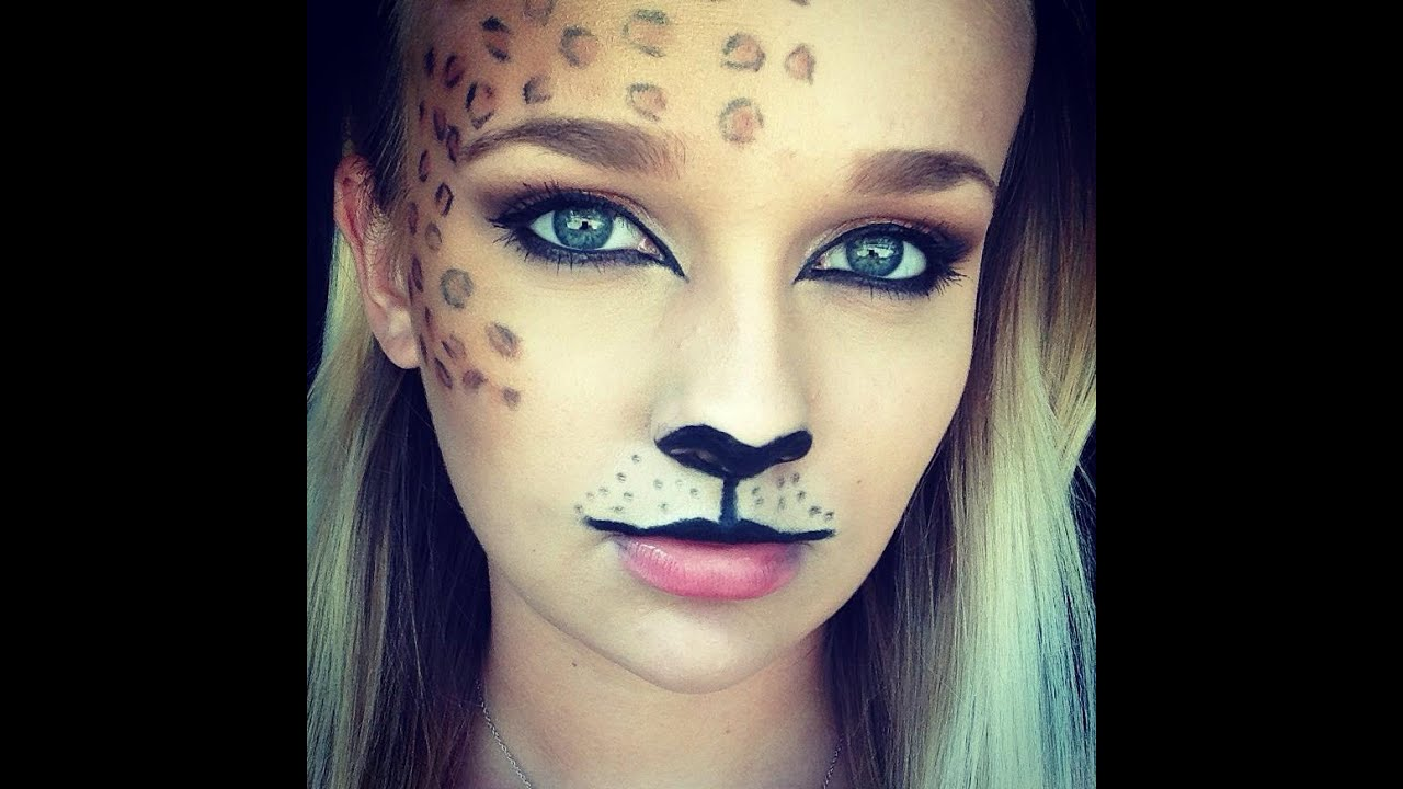 leopard print halloween makeup