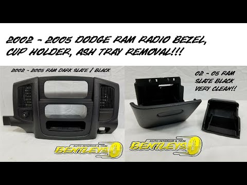 2002 2003 2004 2005 DODGE RAM ASH TRAY, RADIO BEZEL, CUP HOLDER REMOVAL HOW TO REMOVE 1500 2500 3500
