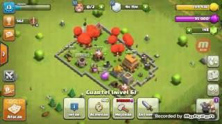 Atacando con todo globos/Clash of clans