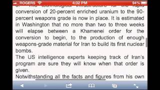 Iran Pilling Up Fissile Material For 4-6 Nuclear Bombs - World War Three Next March
