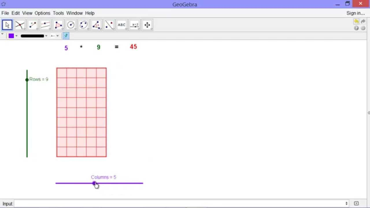 Visualizing Multiplication of Natural Numbers