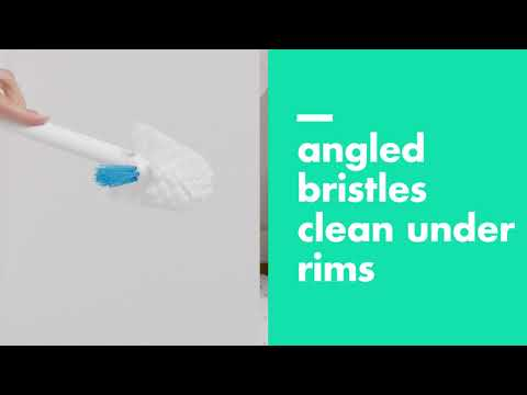 OXO Toilet Brush with Rim Cleaner