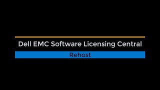Software Licensing Central Rehost (Move My Software)